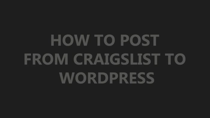 Как отправить сообщение из Craigslist в WordPress